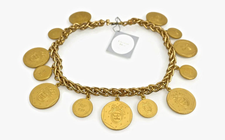 Vintage Christian Dior Bicentennial Coin Limited Edition Necklace  Measurements: Big Medals: 1 1/8 inches Small Medals: 6/8 inch Length: 17 inches  CHRISTIAN DIOR celebrates the 200 year Anniversary of the French Revolution. LE BICENTENAIRE