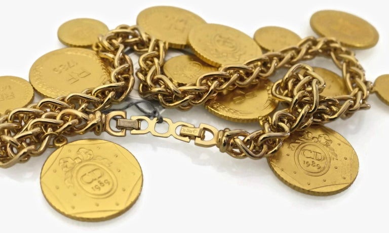 Women's Vintage Christian Dior Bicentennial Coin Limited Edition Necklace For Sale