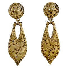 Vintage CHRISTIAN DIOR BOUTIQUE Ethnic Dangling Earrings