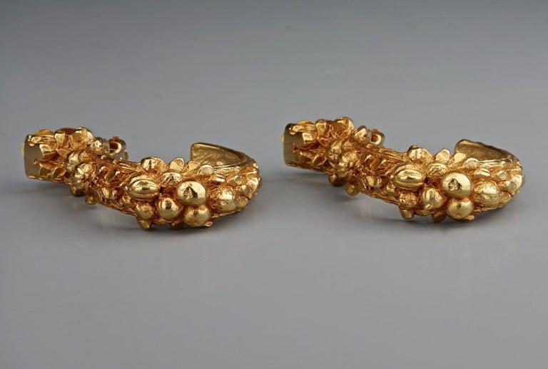 Women's Vintage CHRISTIAN DIOR BOUTIQUE Fruit Motif Hoop Earrings For Sale