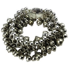 Vintage Christian Dior Bracelet Silver Color