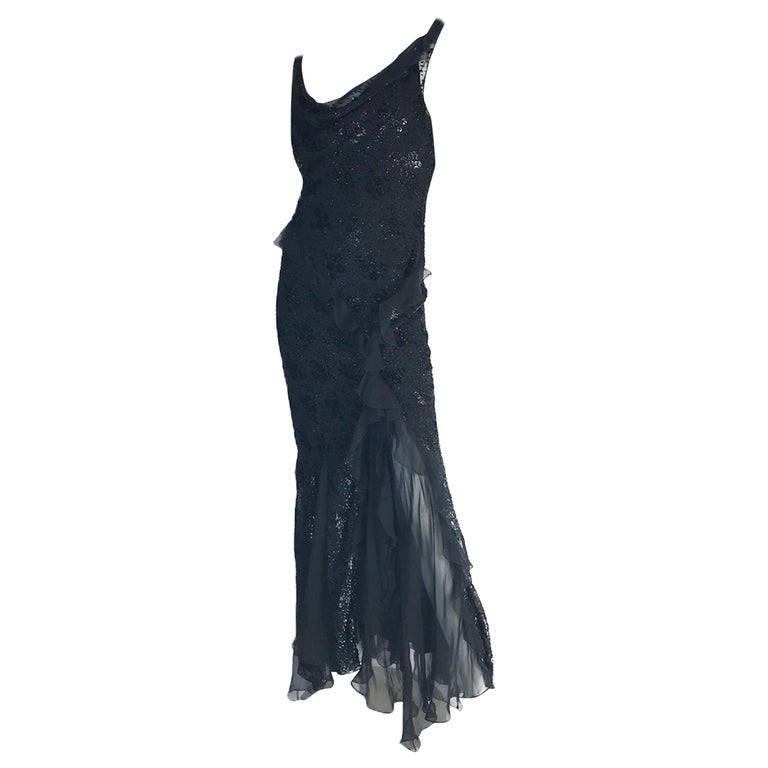 Vintage Christian Dior by John Galliano Silk Evening Gown  For Sale