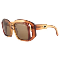 Vintage Christian Dior C05 Amber Translucent Sunglasses Optyl 1960's Austria