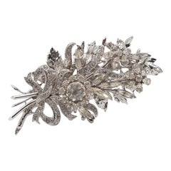 Vintage Christian Dior Crystal Bouquet Brooch 1970's