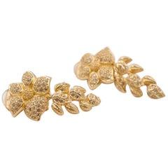 Vintage Christian Dior Flowers Earrings 1990s