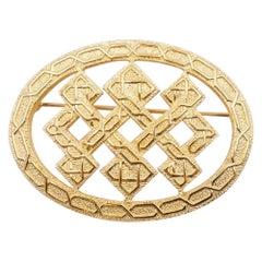 Vintage Christian Dior Geometry brooch 1980s
