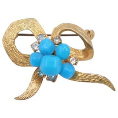 Vintage Christian Dior Germany Bow Brooch 1960s