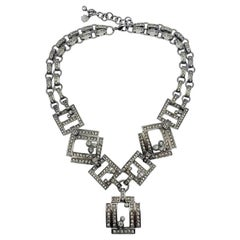 Vintage Christian Dior Haute Couture Art Deco Necklace by Galliano 2000s