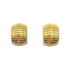 Vintage Christian Dior Huggie Hoop Earrings 1980s