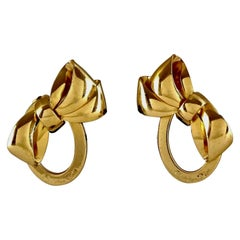Vintage CHRISTIAN DIOR Iconic French Bow Frame Earrings