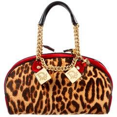Vintage Christian Dior Iconic Leopard Gambler Bag 2004