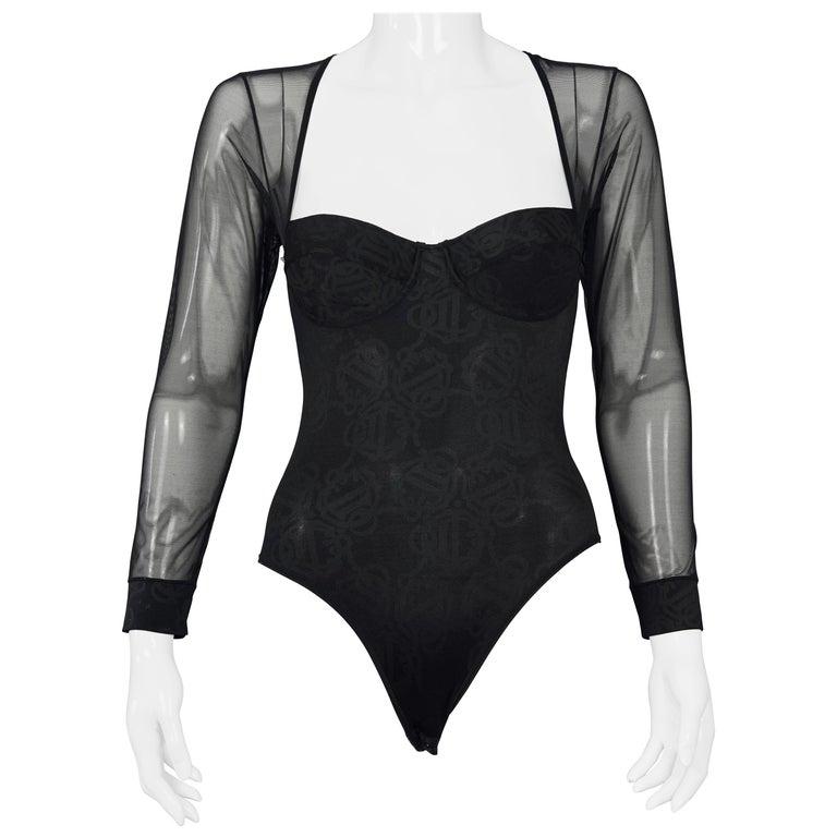 Leotard Vintage Black Bodysuit