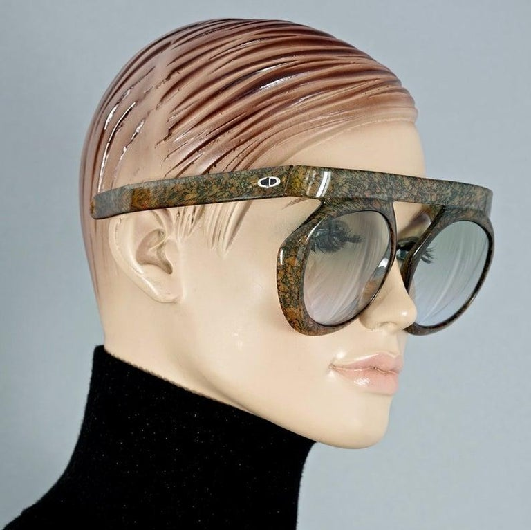 Vintage CHRISTIAN DIOR Lady Gaga Oversized Space Age Sunglasses For Sale 1