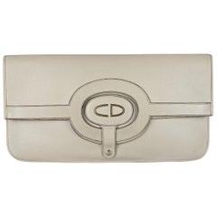 Vintage CHRISTIAN DIOR Logo Foldable Envelope Leather Clutch Bag