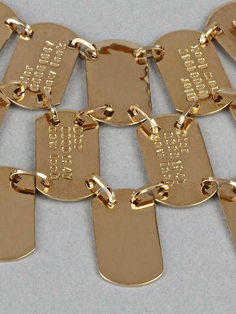 Vintage CHRISTIAN DIOR Logo Name Plate Multi Strand Necklace For Sale 5