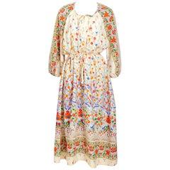Vintage Christian Dior lounge wear floral boho dress