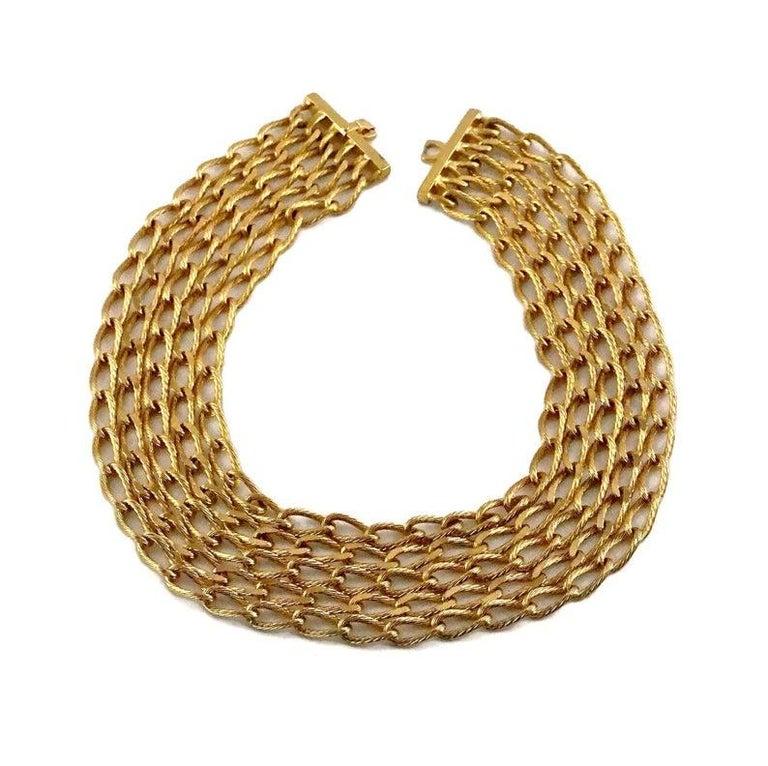 Women's Vintage CHRISTIAN DIOR Multi Strand Chain Necklace