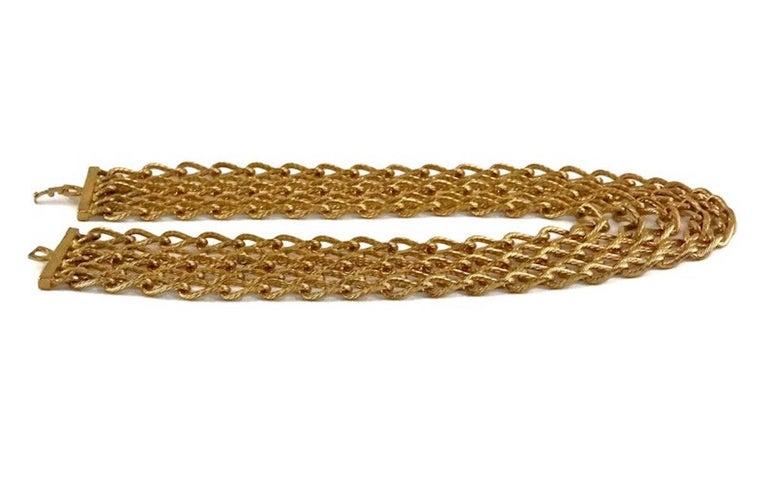 Vintage CHRISTIAN DIOR Multi Strand Chain Necklace 1