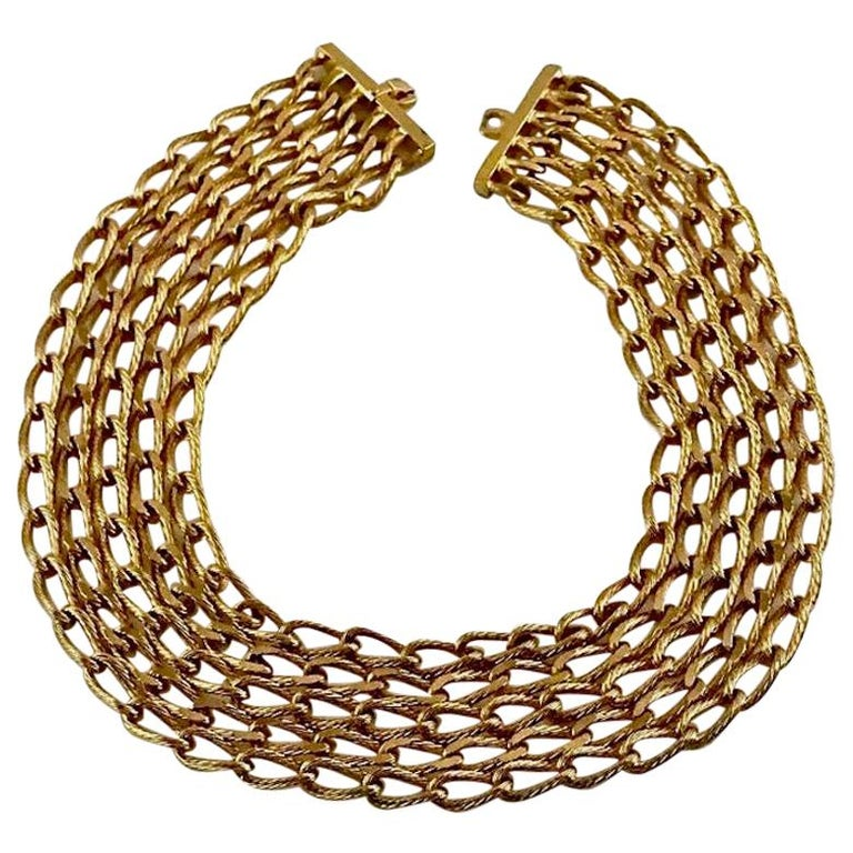 Vintage CHRISTIAN DIOR Multi Strand Chain Necklace