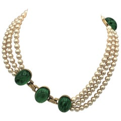 Vintage Christian Dior necklace 1970-80 faux pearls