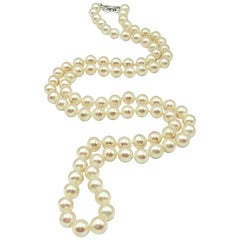 Vintage Christian Dior Pearl Opera Length Necklace 1980s