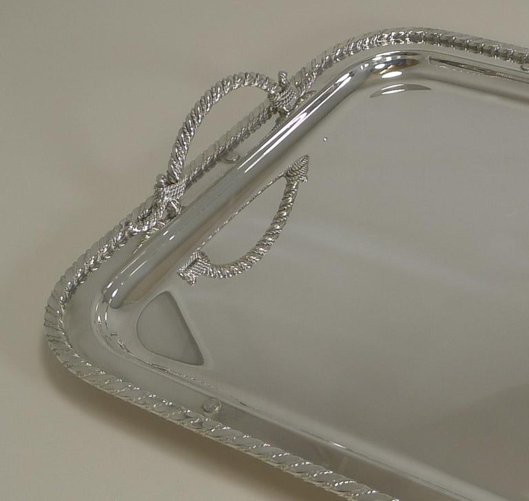 Vintage Christian Dior Silver Plated Serving Tray, circa 1970 For Sale 4