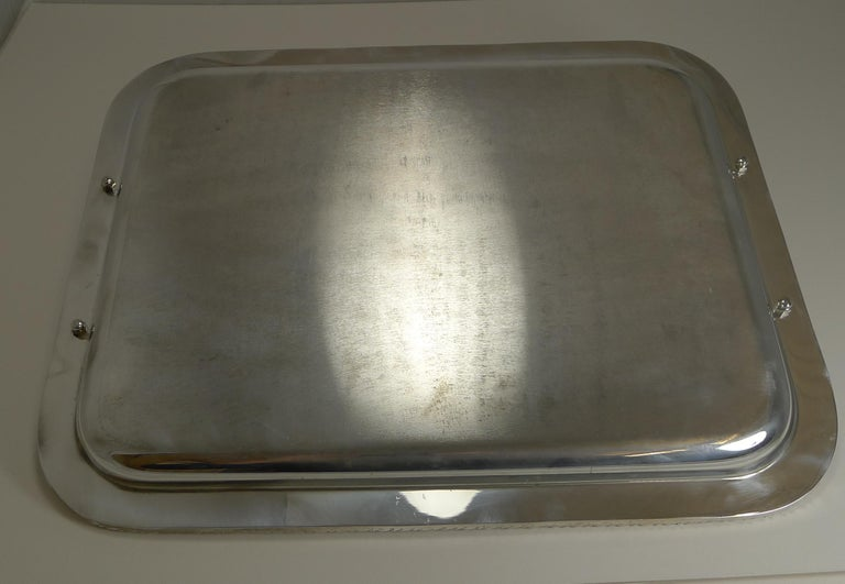 Vintage Christian Dior Silver Plated Serving Tray, circa 1970 For Sale 5
