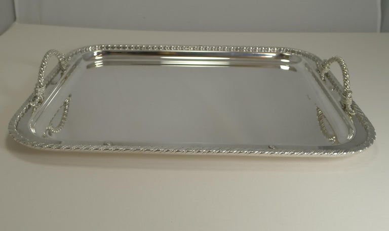 Vintage Christian Dior Silver Plated Serving Tray, circa 1970 For Sale 6