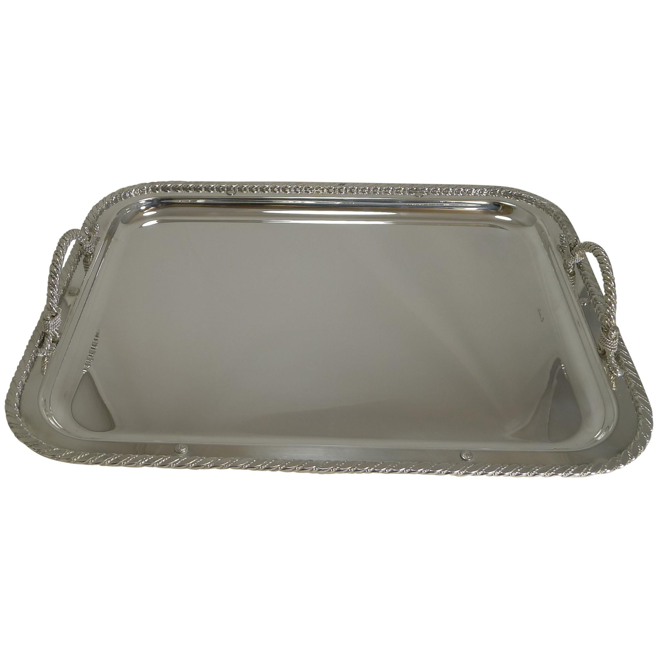 Vintage Christian Dior Silver Plated Serving Tray, circa 1970