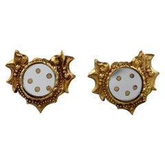 Vintage CHRISTIAN LACROIX Baroque Mirror Earrings