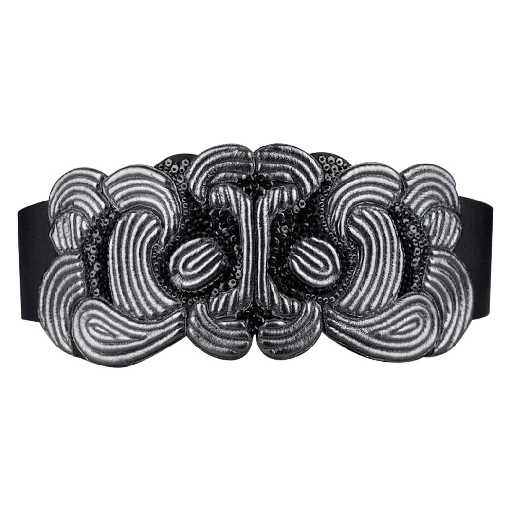 Vintage CHRISTIAN LACROIX Beaded Aztec Mask Belt
