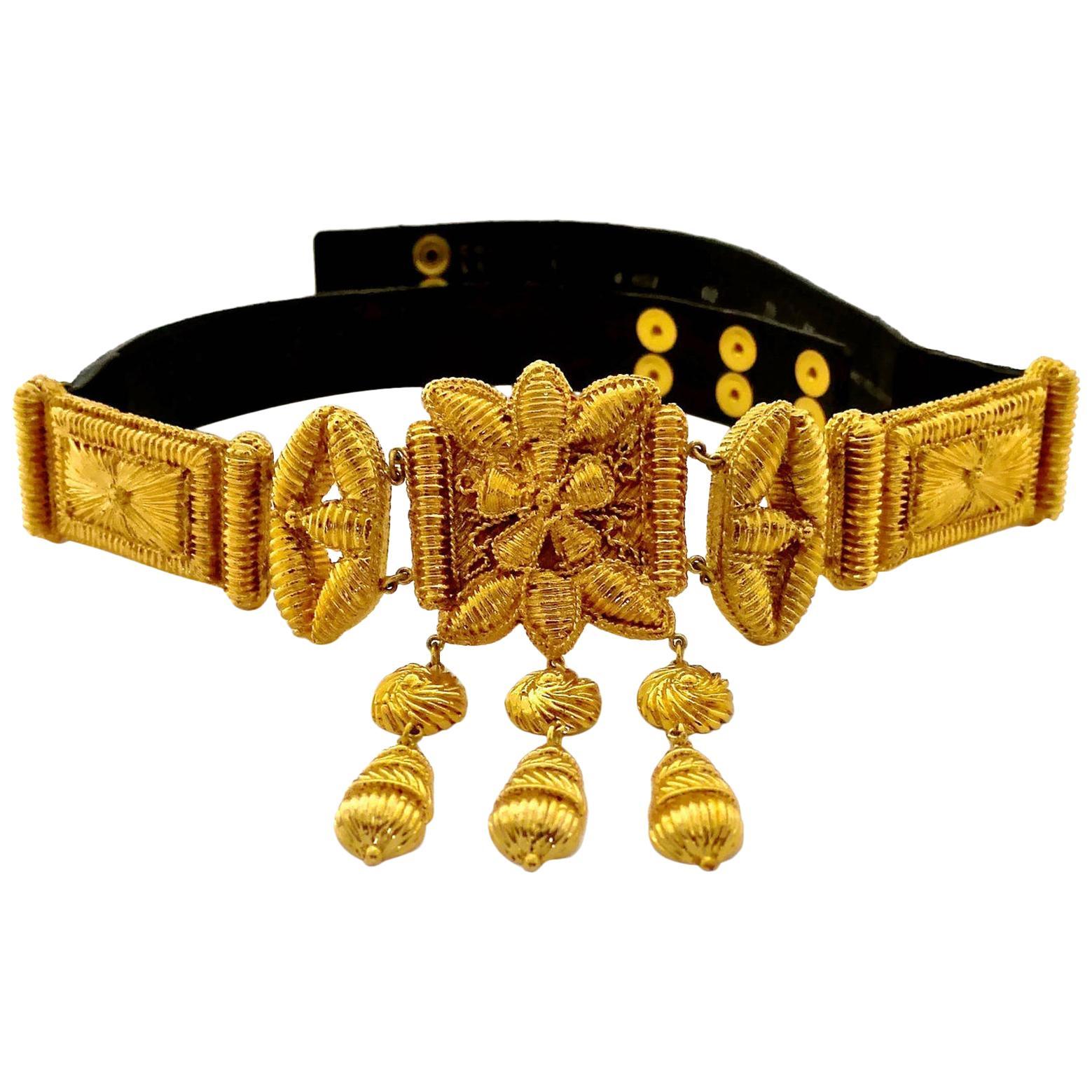 Vintage CHRISTIAN LACROIX Byzantine Mogul Belt