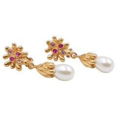 Vintage Christian Lacroix Faux Pearl Earrings