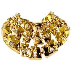 Vintage Christian Lacroix Gold Diamante Statement Necklace