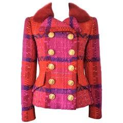 Vintage Christian Lacroix Haute Couture Fall-Winter 1991 Colorful Boucle Jacket