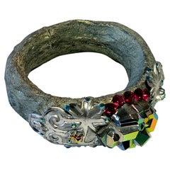 Vintage Christian Lacroix Haute Couture Metallic Bangle Bracelet