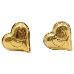 Vintage Christian Lacroix Heart Earrings CL