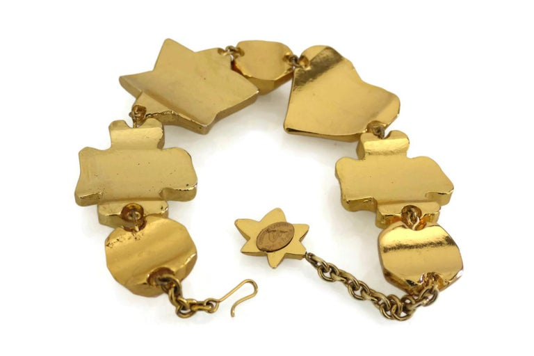 Vintage CHRISTIAN LACROIX Iconic Symbol Choker Necklace For Sale 1