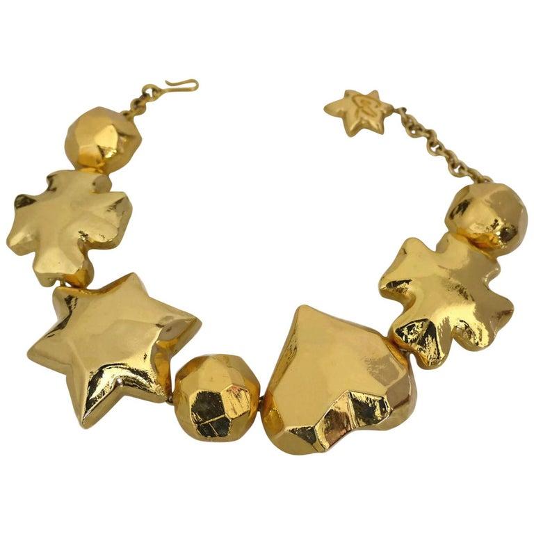 Vintage CHRISTIAN LACROIX Iconic Symbol Choker Necklace For Sale