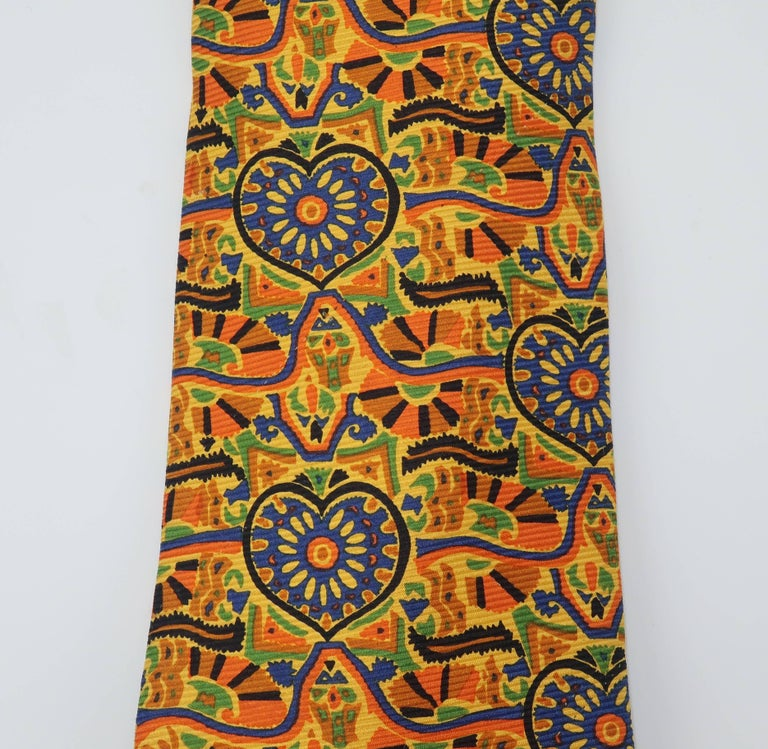 Vintage Christian Lacroix Men's Silk Necktie In Good Condition For Sale In Atlanta, GA