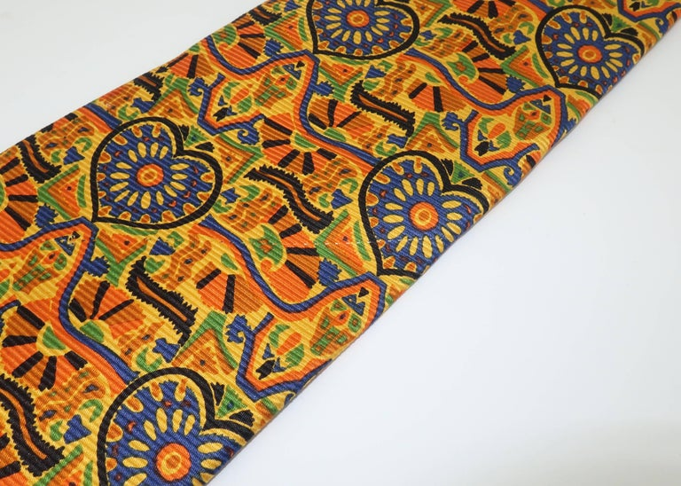 Vintage Christian Lacroix Men's Silk Necktie For Sale 4