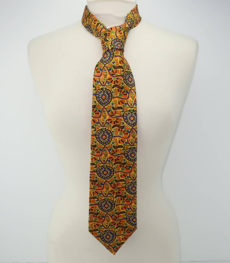 Vintage Christian Lacroix Men's Silk Necktie For Sale 5