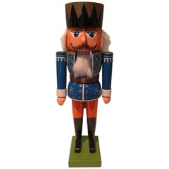 Vintage Christmas Nutcracker Wood Erzgebirge Germany