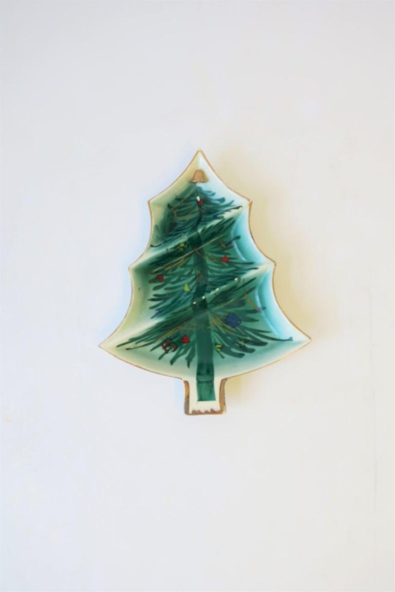 Vintage Ceramic Christmas Tree.Vintage Christmas Tree Dish