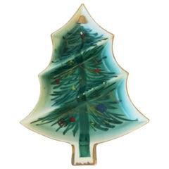 Vintage Christmas Tree Dish