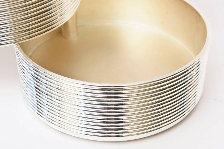 Christofle Cantileverd Silver Plate Sculptural Box Vintage Desk Accessory For Sale 3