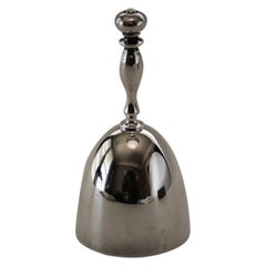 "Vintage Christofle France Silver Plated ""Perle"" Dinner Bell"