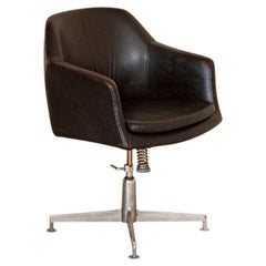Vintage Chrome and Leather Office Chair