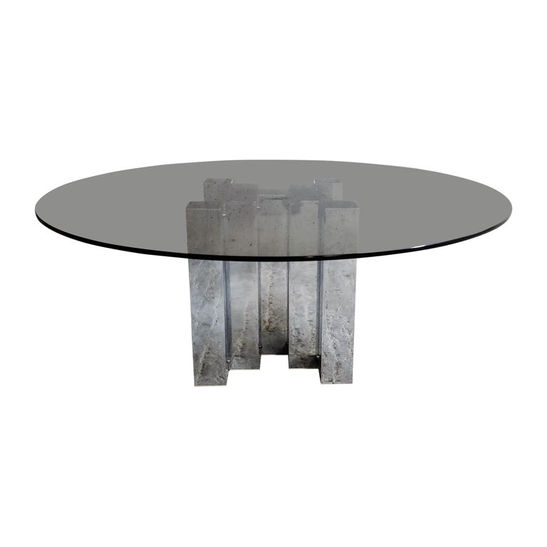 Vintage Chrome Cityscape Coffee Table, 1970s For Sale at ...