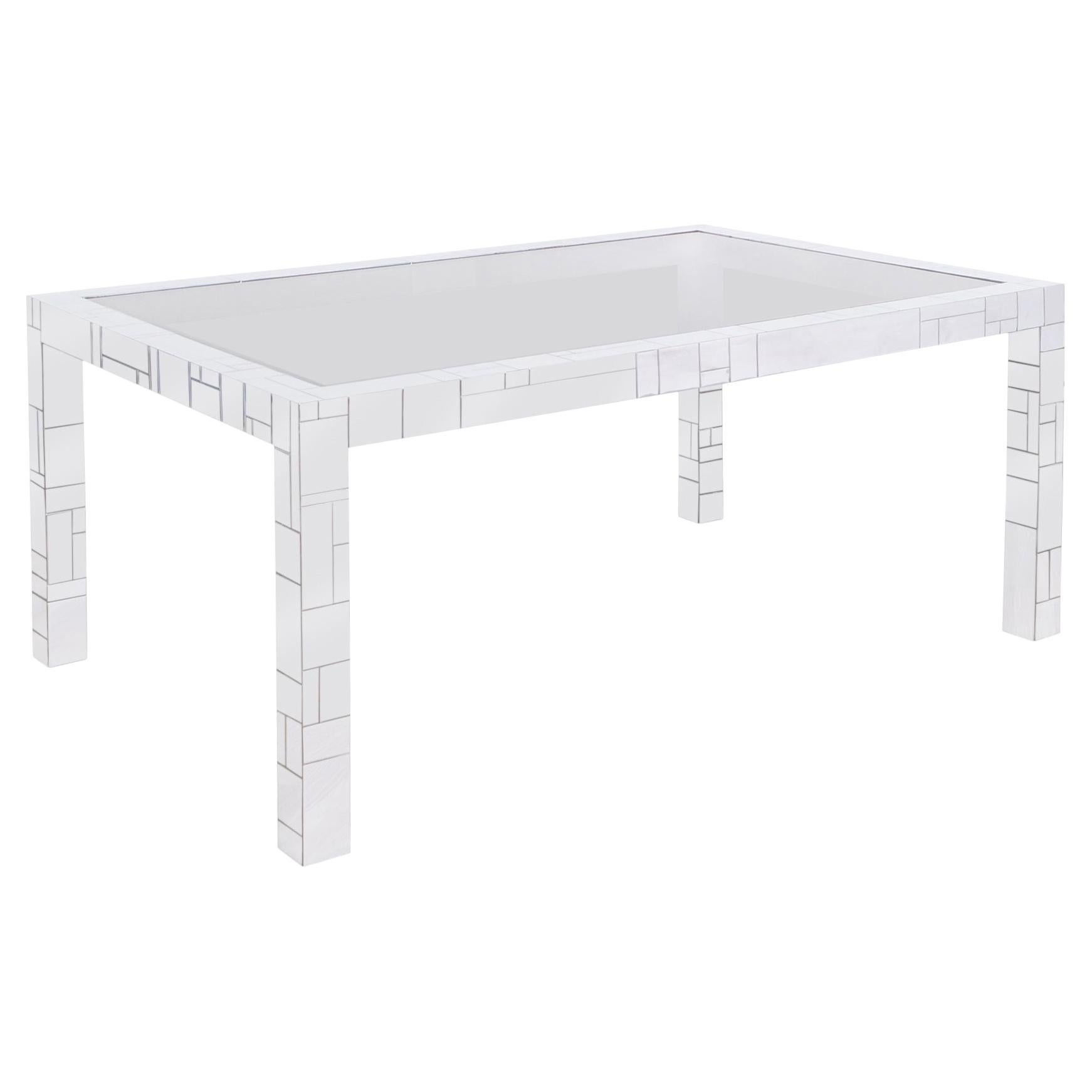 """Vintage Chrome """"Cityscape"""" Dining Table by Paul Evans for Directional"""